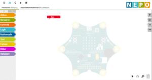 Die Fraunhofer Initiative Open Roberta stellt ebenfalls einen Editor bereit. Grundlage ist die Programmiersprache NEPO, die auch für die Programmierung von Robotern eingesetzt wird.