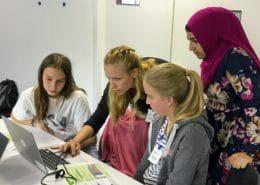 Mädchen Digital Club