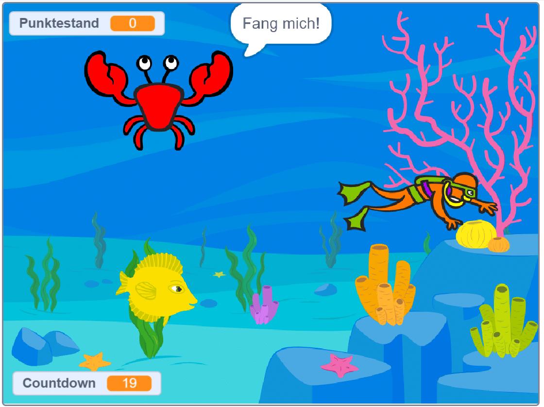 Unterwasserwelt in Scratch