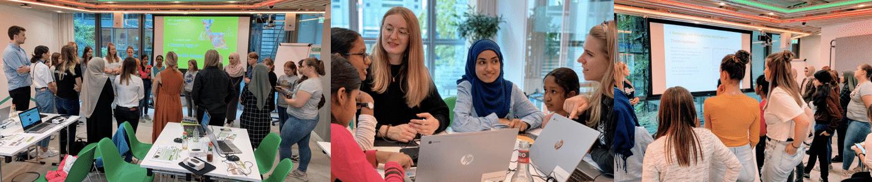 Einführung Mädchen Gruppe Künstliche Intelligenz Summer Camp