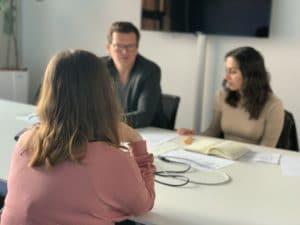 Bewerbungsgespräch Übung