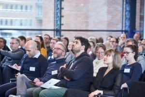 Publikum Abschlusspanel auf dem Digital Summit 2020. Einer Lehrerkonferenz zum Thema Digitalisierung