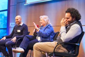 Abschlusspanel Referenten auf dem Digital Summit 2020. Einer Lehrerkonferenz zum Thema Digitalisierung