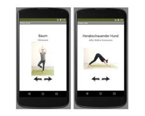 yoga app programmieren baum asana coding