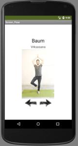 Yoga App Baum Asana Unterrichtsmaterial Appentwicklung