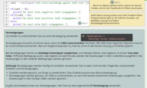 Python Verzweigungen
