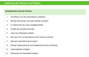Chancen und Risiken im Netz