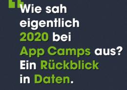 Wie sah eigentlich 2020 bei App Camps aus? Ein Rückblick in Daten