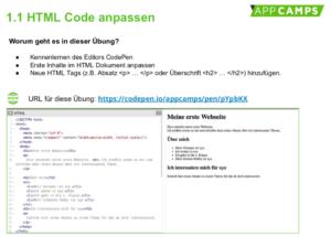 HTMl Code anpassen