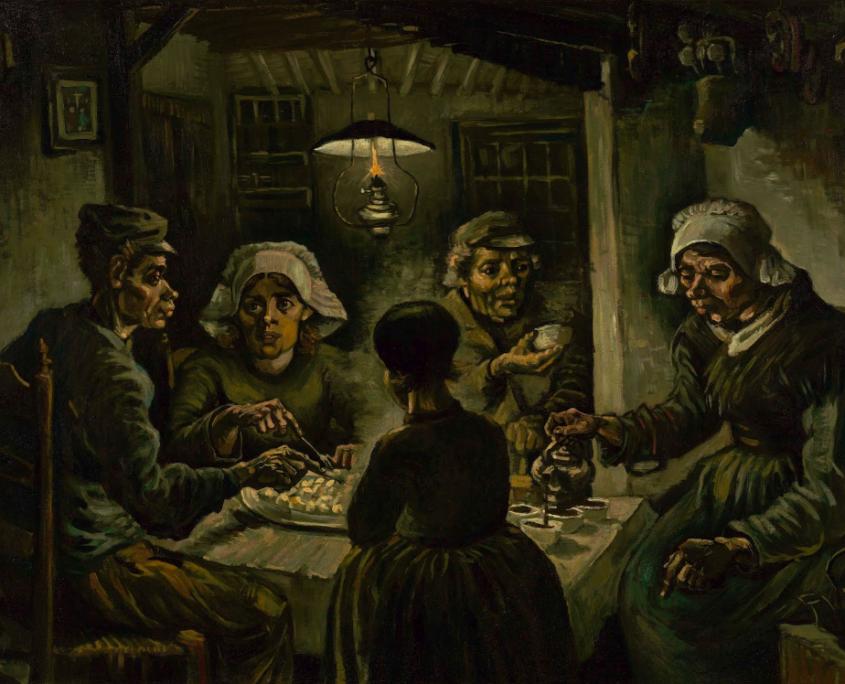 """""""Die Kartoffelesser"""" von Vincent van Gogh. © Van Gogh Museum"""