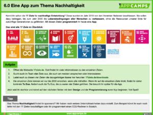 Nachhaltigkeits-App