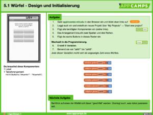 Lernkarte Würfel App