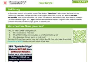 Arbeitsblatt Fake News