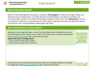 Arbeitsblatt Deep Fakes