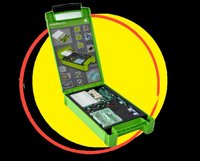 Die senseBox ist ein einfach zu bedienender Mikrocontroller mit verschiedensten Anwendungsgebieten. © senseBox