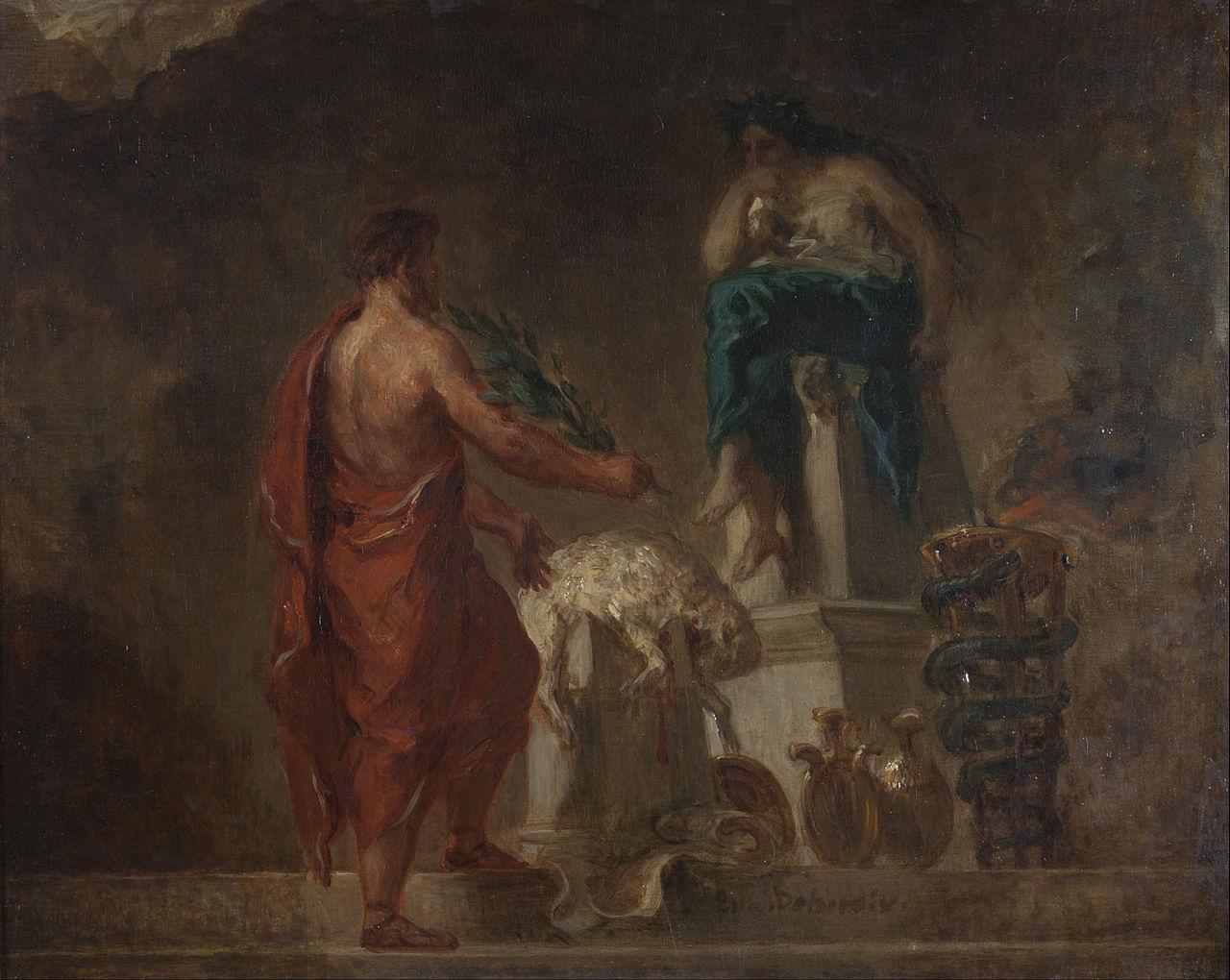 Die antiken GriechInnen konsultierten das Orakel von Delphi zu Zeiten der Krise.