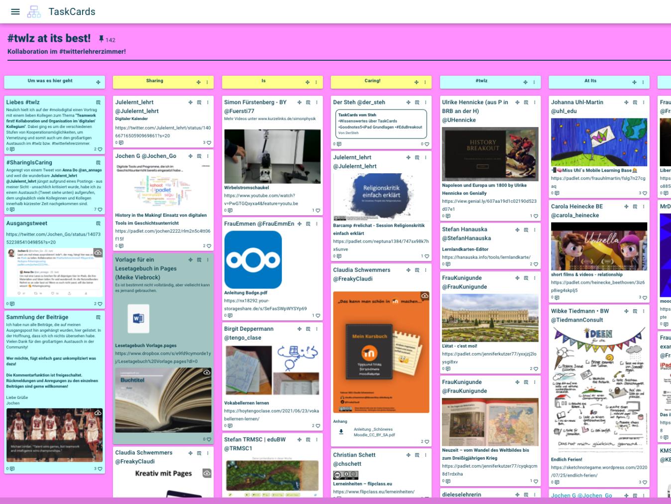 TaskCards Sammlung des #twlz