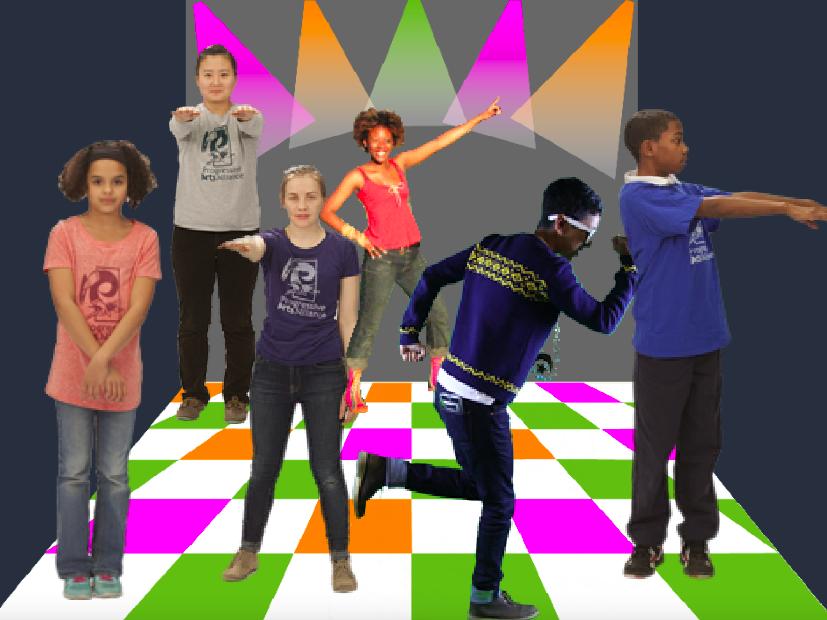 Tanzparty in Scratch programmiert