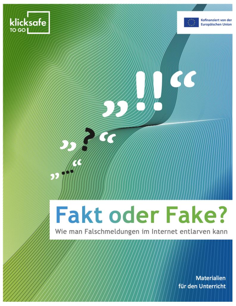 Klicksafe Material zu Fake News